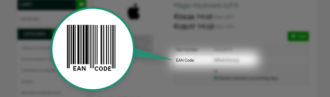 Updated Product Page – EAN Code Added